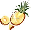 Sliced Pineapple clipart