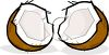 Broken Coconut clipart