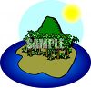 Island Full of Palm Trees clipart