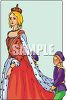 Royal Highness with Hand Maids clipart