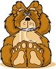 Cartoon of a Big Fluffy Bear clipart
