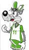 Cartoon Wolf Soccer Player clipart