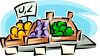 Produce in a Supermarket clipart