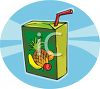 Tropical Fruit Juice Box clipart