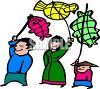 Chinese People at a New Year Parade clipart