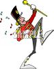 Band Leader for a Marching Band clipart
