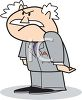Cartoon Boss Frowning clipart