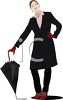 Woman Dressed for Rain clipart