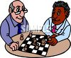 Two Friends Playing Chess clipart