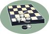 Checker Board Game  clipart