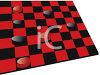 Black and Red Checkers Game Board clipart
