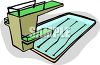 Competition Size Pool with a High Dive clipart