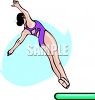 Girl Doing a Back Dive Off a Diving Board clipart