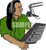 Recording Engineer at the Control or Mixing Board clipart