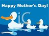 Happy Mother's Day Duck with Their Mother clipart