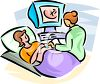 Pregnant Woman Having an Ultrasound clipart