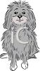 Shaggy Gray Dog clipart