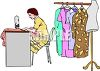 Seamstress Sewing Clothes clipart