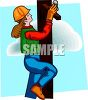 Female Telephone Line Worker clipart