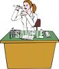 Woman Doing Chemistry Lab Research clipart