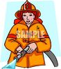 Lady Firefighter clipart
