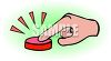 Finger Pressing a Buzzer clipart