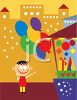 Little Boy Buying Balloons clipart