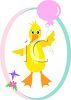 Little Duck with a Balloon clipart