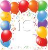 Birthday Balloon Page Border clipart