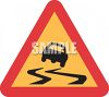 Road Sign-Slippery When Wet clipart