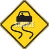 Classic Slippery When Wet Road Sign clipart