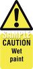 Exclamation Point on a Caution Wet Paint Sign clipart