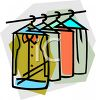 Clothes at a Dry Cleaners clipart