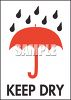 Umbrella with Raindrops and Keep Dry Text clipart
