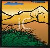 Sun Setting in the Wilderness clipart