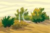 Bushes on a Sand Dune clipart