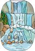 Waterfall Rushing Over Stones clipart