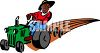 Old Black Farmer Plowing His Fields on a Tractor clipart
