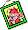 Cartoon Framed Picture of a Squirrel clipart
