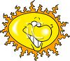 Smiling Cartoon Sun clipart