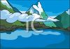Lake in the Mountains clipart