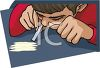 Guy Snorting Cocaine clipart