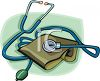 Blood Pressure Cuff and Stethoscope clipart
