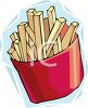 Fried Food-French Fries in a Carton clipart