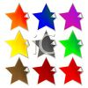 Star Shaped Stickers with a Corner Peeling Up clipart