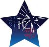 Fireworks in a Star Shape for the 4th of July clipart