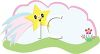 Whimsical Shooting Star on a Spring Day clipart