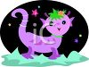 Whimsical Alien Creature or Cute Monster clipart
