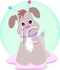 Whimsical Puppy clipart