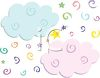 Whimsical Clouds and Confetti clipart